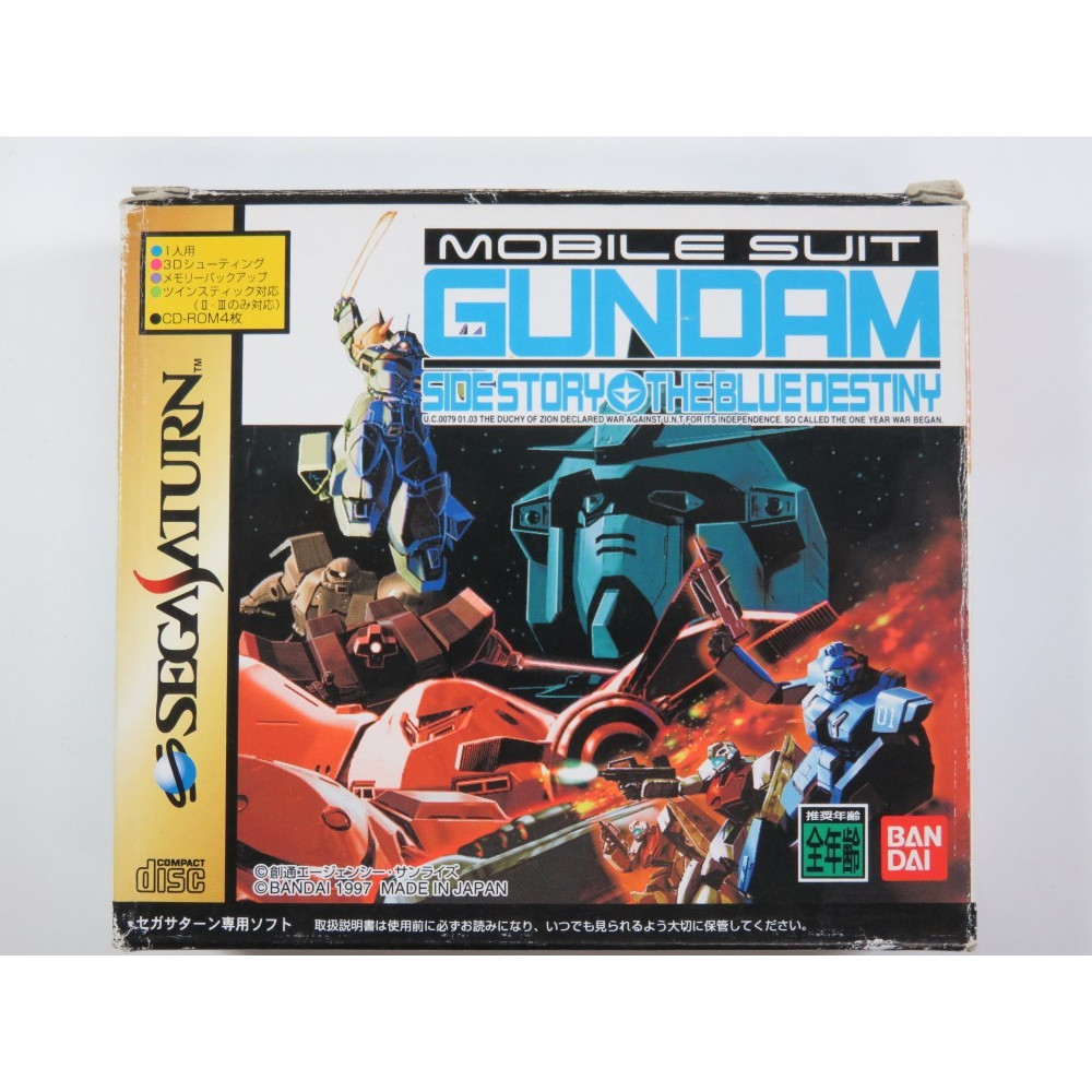 MOBILE SUIT GUNDAM SIDE STORY THE BLUE DESTINY (COMPLETE - GOOD CONDITION OVERALL)