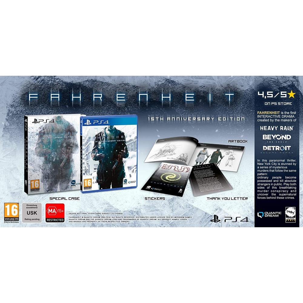 FAHRENHEIT 15TH ANNIVERSARY PS4 FR NEW
