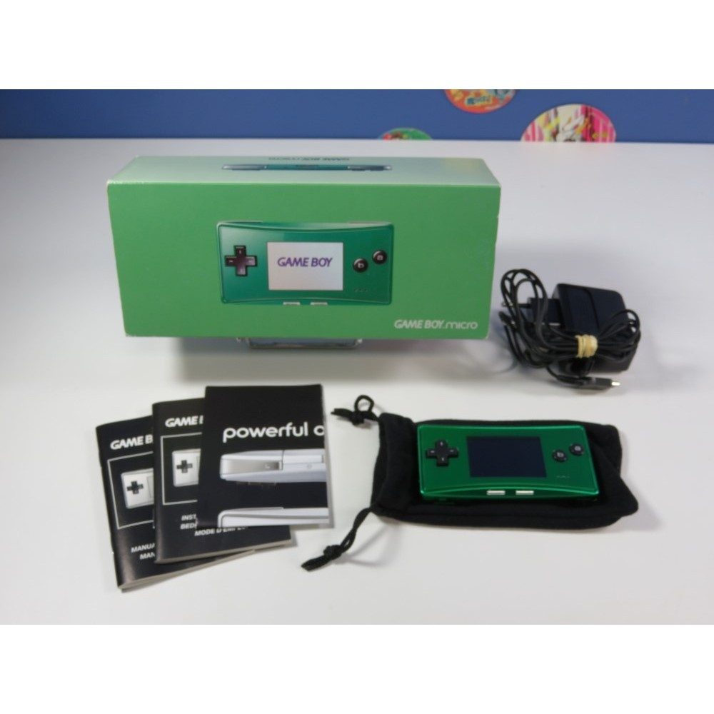 CONSOLE NINTENDO GAMEBOY MICRO (GBA) GREEN OXY-S-JA-EUR (COMPLET - GOOD CONDITION)
