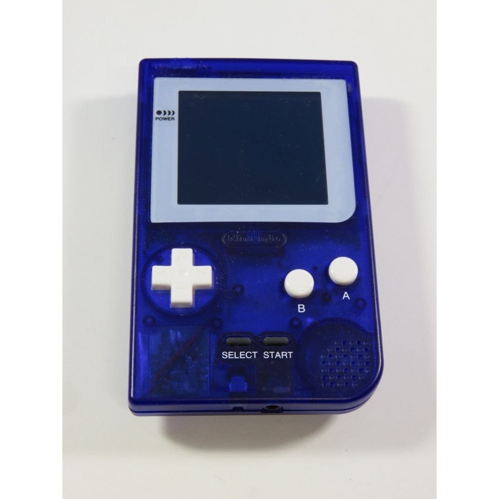 CONSOLE GAMEBOY POCKET CLEAR PURPLE (COQUE NEUVE CUSTOM) MODIFIEE BACKLIGHT BI-VERT OCCASION
