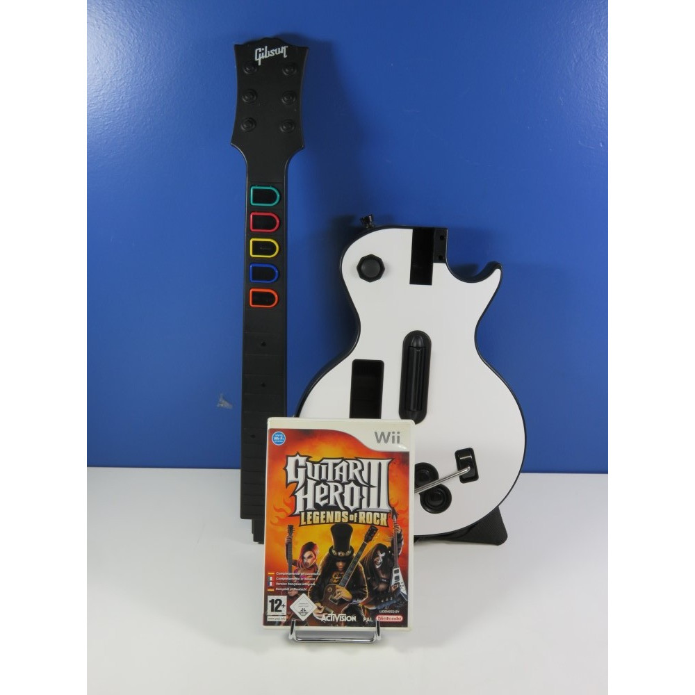 GUITAR HERO III - LEGEND OF ROCK WII PAL-EURO (WITH GAME - WITHOUT BIG BOX)(GOOD CONDITION OVERALL)