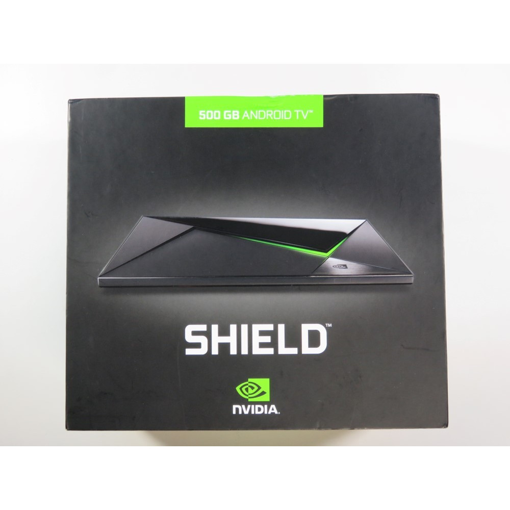 CONSOLE NVIDIA SHIELD PRO (2015) ANDROID TV 500GB 4K (+ CONTROLLER) USA (COMPLETE - GOOD CONDITION)