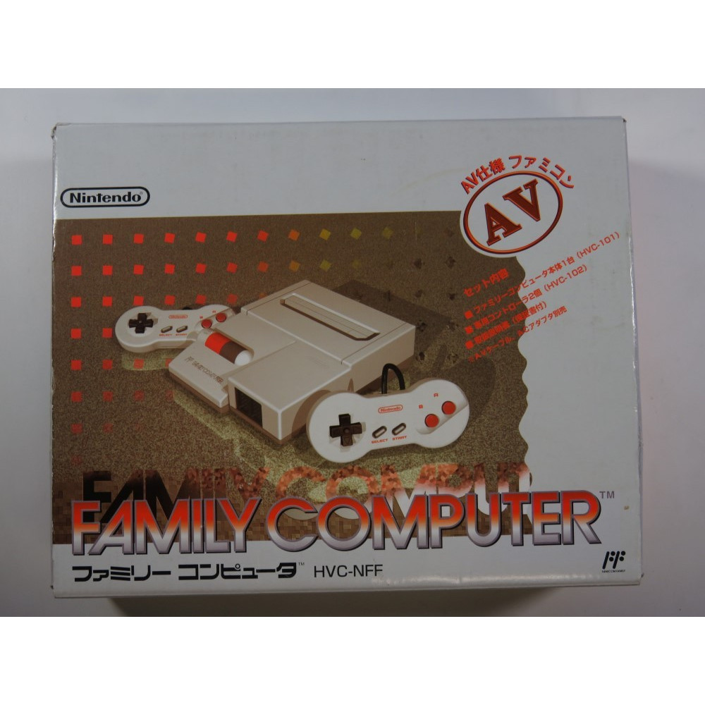 CONSOLE FAMILY COMPUTER (FAMICOM) AV (COMPLETE WITH MANUAL - GOOD CONDITION)