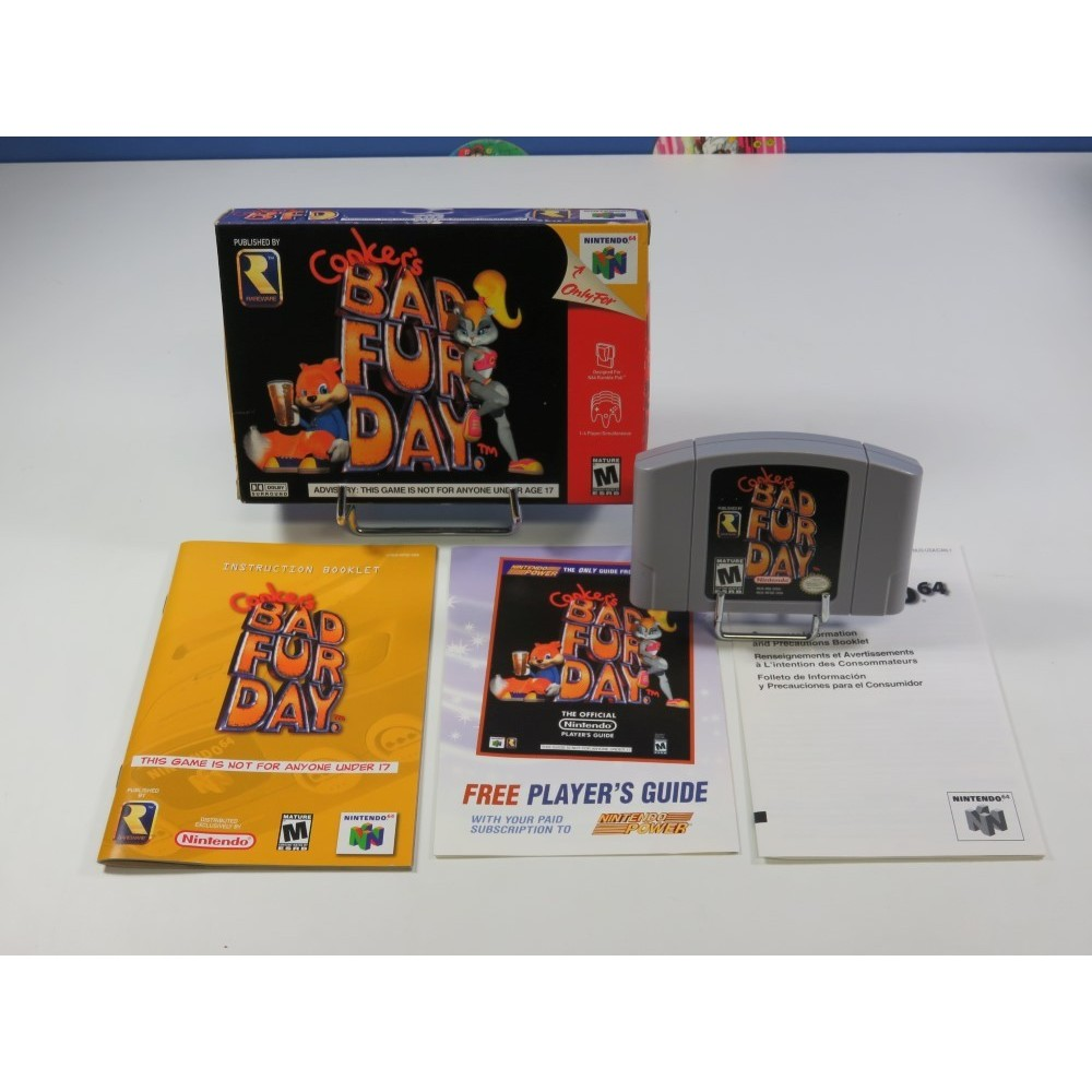 CONKER S BAD FUR DAY NINTENDO 64 (N64) NTSC-USA (COMPLET - VERY GOOD CONDITION)(RARE SOFTWARE)