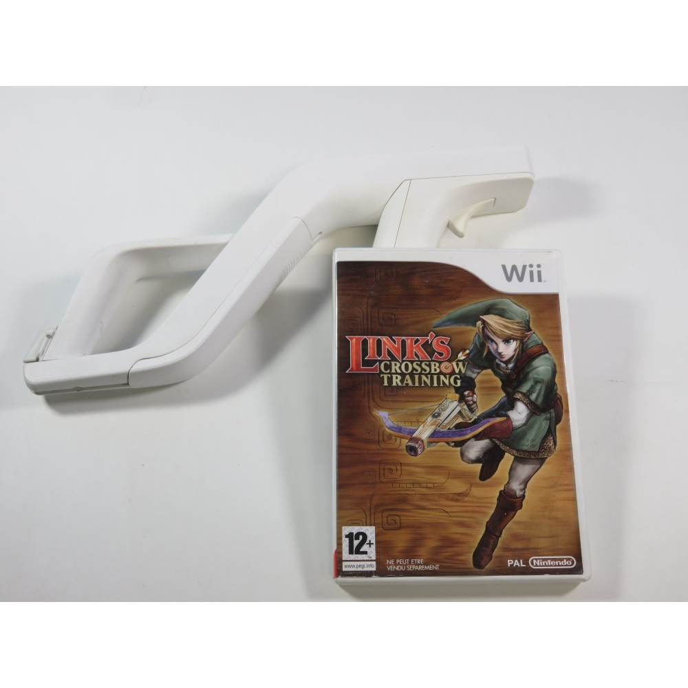 LINK S CROSSBOW TRAINING + WII ZAPPER NINTENDO WII PAL-EURO (SANS BOITE - WITHOUT BOX)