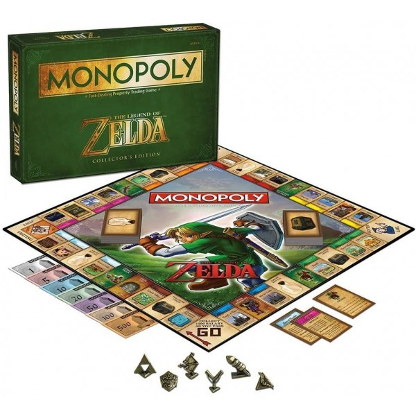 MONOPOLY THE LEGEND OF ZELDA COLLECTOR S EDITION USA NEUF - BRAND NEW (TEXTS IN ENGLISH)