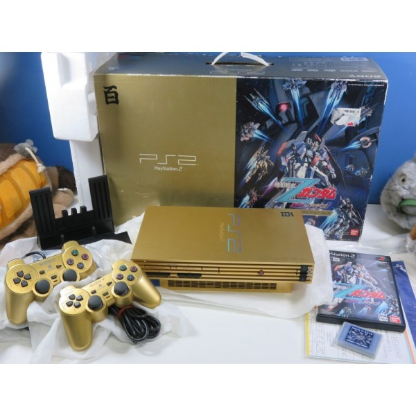 CONSOLE PLAYSTATION 2 Z-GUNDAM TYPE-100 HYAKUSHIKI GOLD PACK (COMPLET-VERY GOOD CONDITION)