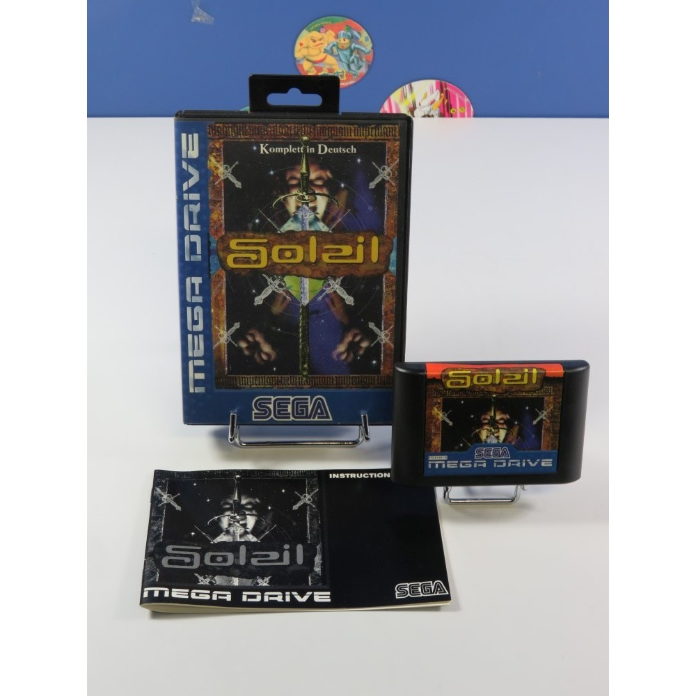 SOLEIL - CRUSADER OF CENTY - RAGNACENTY SEGA MEGADRIVE PAL-DEUTSCH (COMPLET VERY GOOD CONDITION)(JEU EN ALLEMAND)