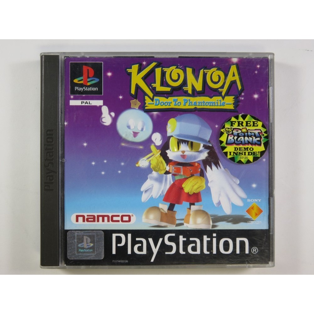 KLONOA DOOR TO PHANTOMILE PLAYSTATION 1 (PS1) PAL-UK (COMPLETE WITH DEMO - GOOD CONDITION)