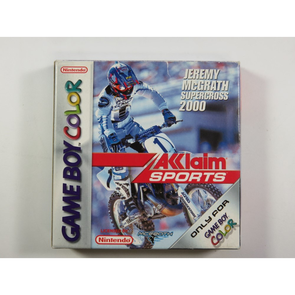 JEREMY MCGRATH SUPERCROSS 2000 GAMEBOY COLOR (GBC) PAL-EUR (COMPLETE - GOOD CONDITION OVERALL)