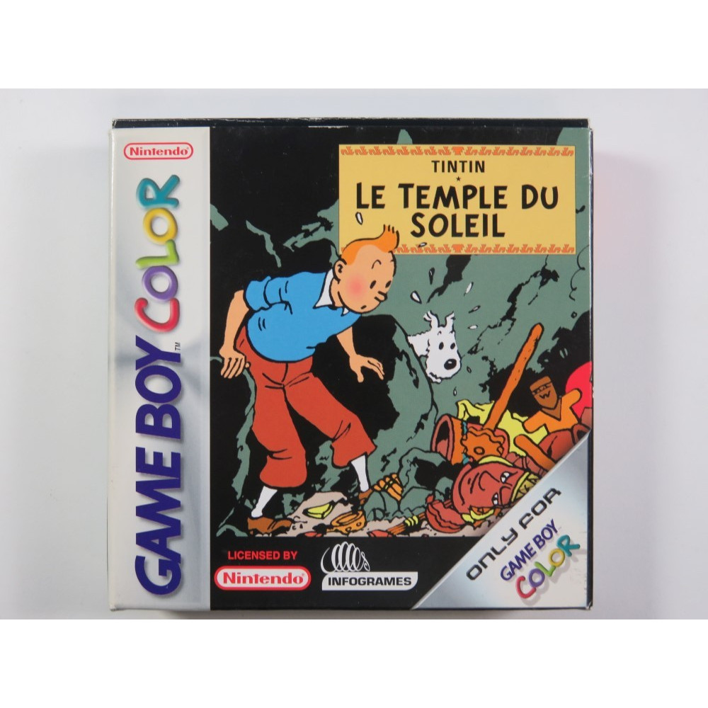 TINTIN LE TEMPLE DU SOLEIL GAMEBOY COLOR (GBC) PAL-FAH (COMPLETE - VERY GOOD CONDITION)