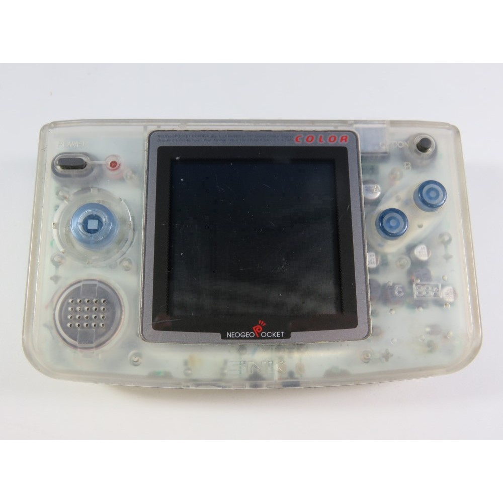 CONSOLE NEOGEO POCKET COLOR SKELETON WHITE SNK JAPAN (WORKING CONDITION) -0365761-