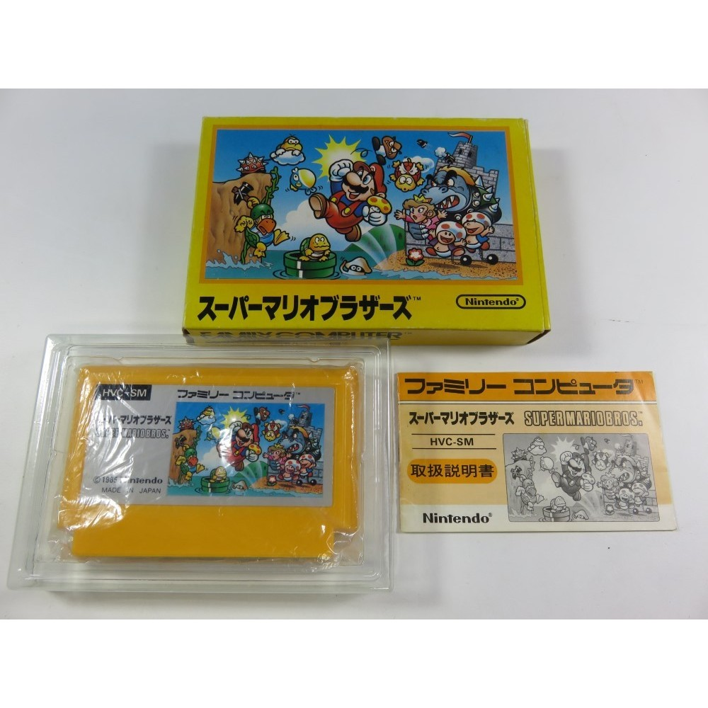 SUPER MARIO BROTHERS FAMICOM (COMPLETE-GOOD CONDITION) NINTENDO FC JPN