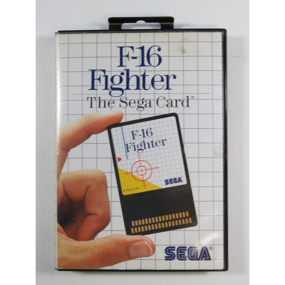 F-16 FIGHTER THE SEGA CARD MASTER SYSTEM PAL-EURO (COMPLETE - GOOD CONDITION)
