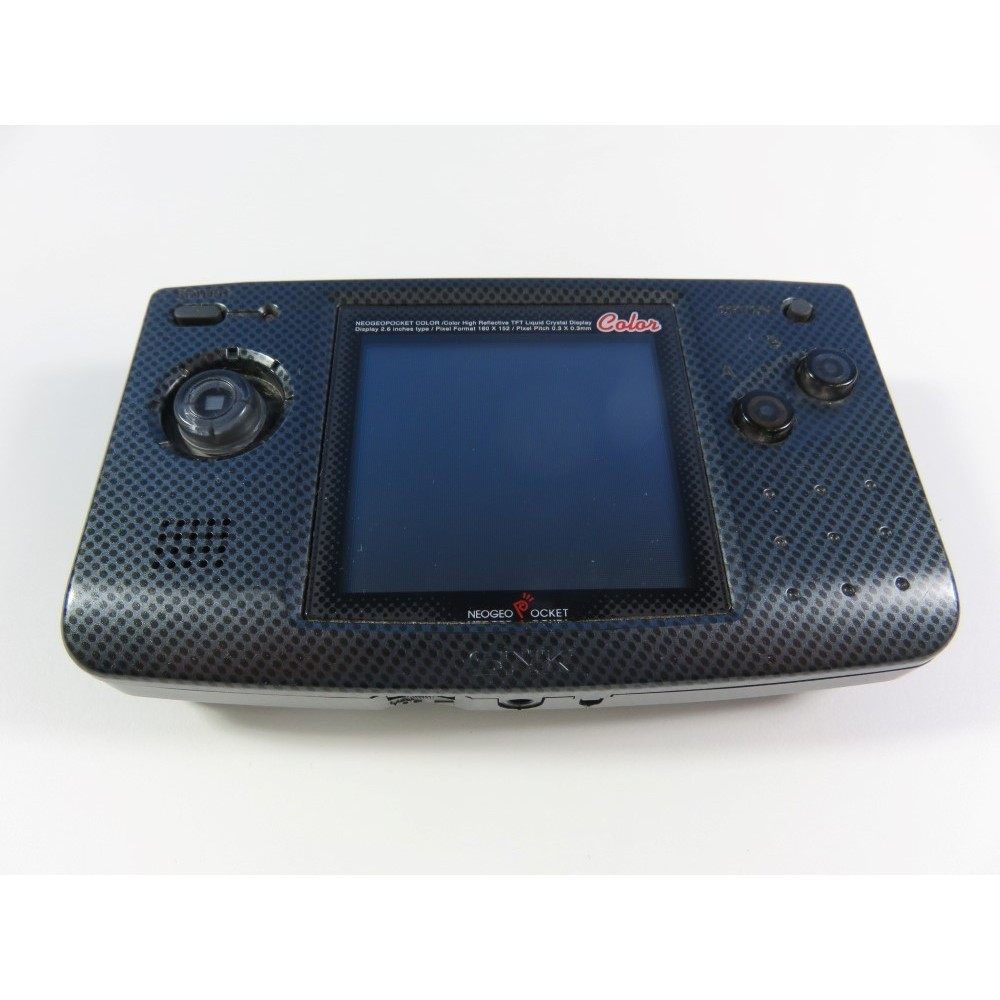 CONSOLE NEOGEO POCKET COLOR BLACK CARBON SNK JPN (NO BATTERY COVER, NO BOX, FULLY WORKING)