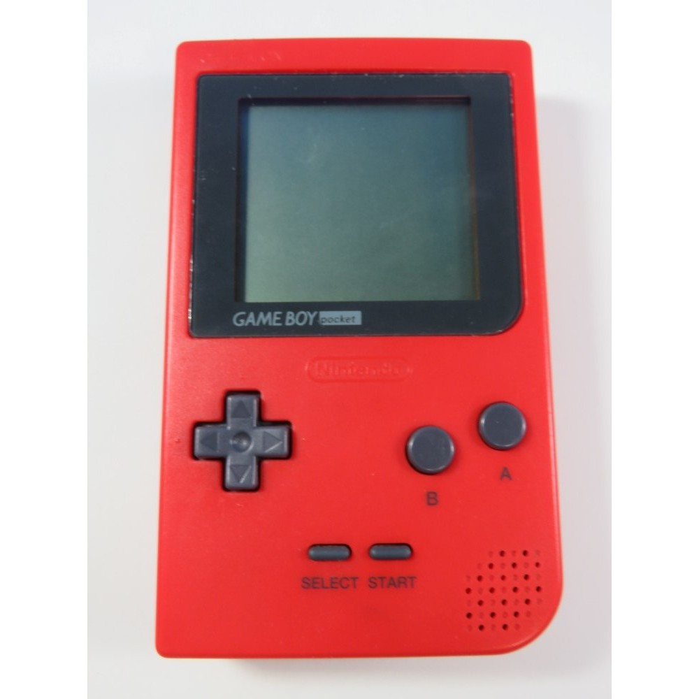 CONSOLE GAMEBOY POCKET RED NINTENDO JAPAN (NO BOX-GOOD CONDITION) REGION FREE