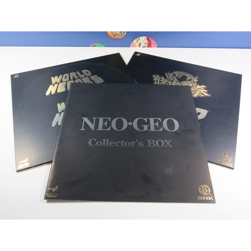LD LASER DISC SNK NEOGEO COLLECTORS BOX NTSC-JPN (GOOD CONDITION-INCOMPLET) WORLD HEROS-GAROU DENSETSU- RYUKO NO KEN