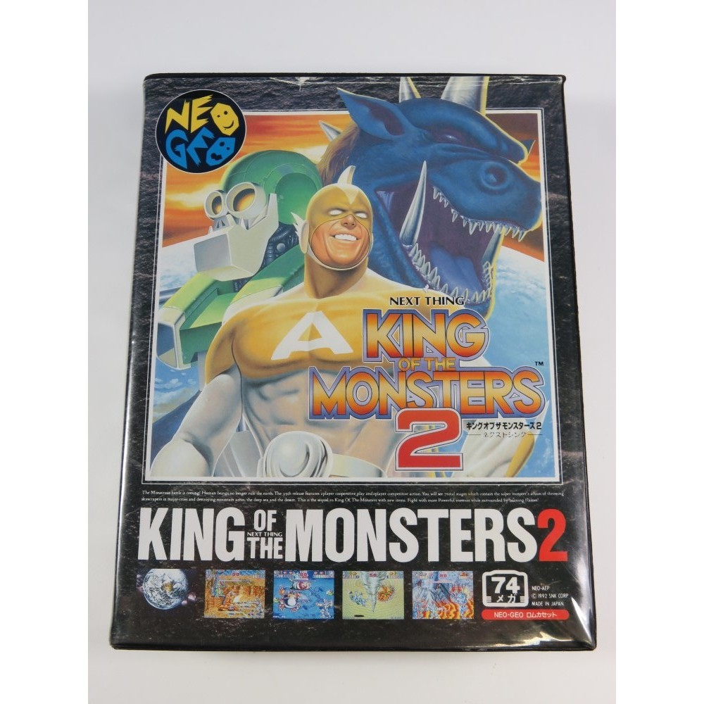 KING OF THE MONSTERS 2 NEOGEO AES SNK JPN (COMPLET-OVERALL GOOD CONDITION)
