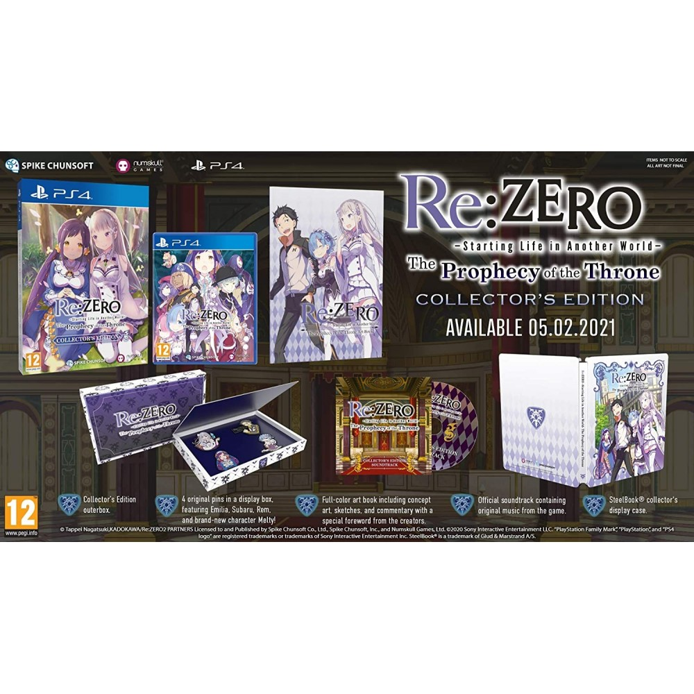 RE: ZERO - THE PROPHECY OF THE THRONE COLLECTOR EDITION - PS4 FR