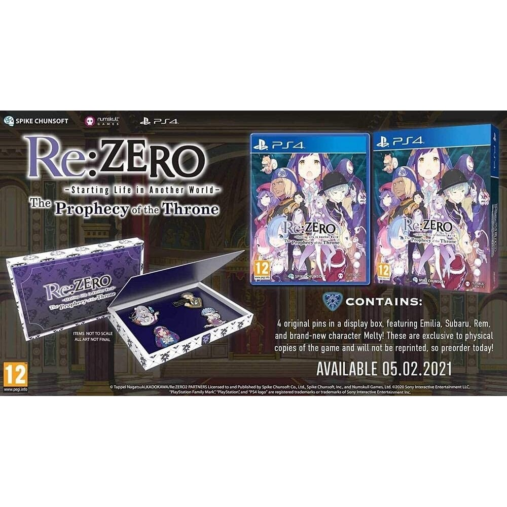 RE: ZERO - THE PROPHECY OF THE THRONE BADGE EDITION - PS4 FR