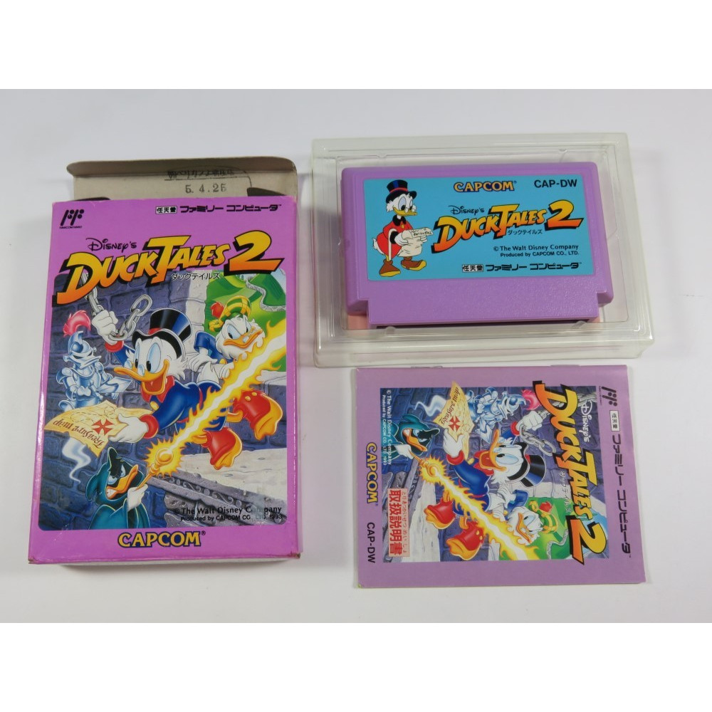 DUCK TALES 2 FAMICOM (COMPLETE - GOOD CONDITION) FC CAPCOM DISNEY 1993