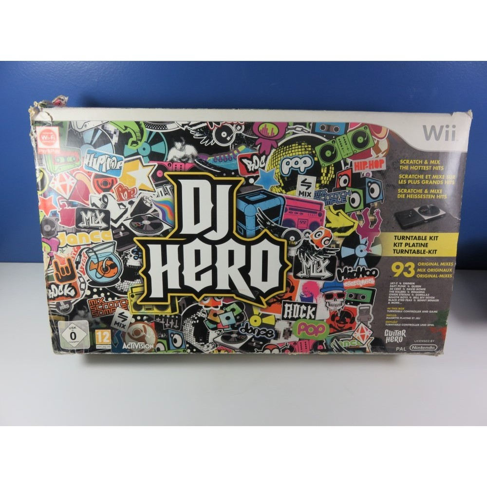 DJ HERO (WITH TURNTABLE KIT) NINTENDO WII PAL-EURO (COMPLET)