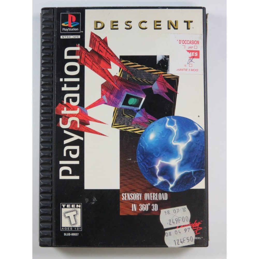 DESCENT (LONG BOX) PLAYSTATION 1 (PS1) NTSC-USA (COMPLETE - GOOD CONDITION)