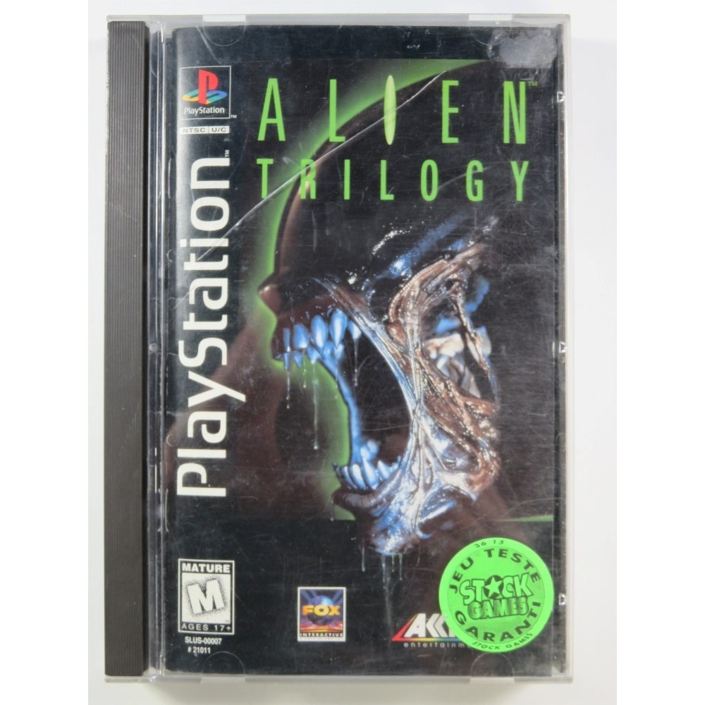ALIEN TRILOGY (LONG BOX) PLAYSTATION 1 (PS1) NTSC-USA (COMPLETE - GOOD CONDITION OVERALL)