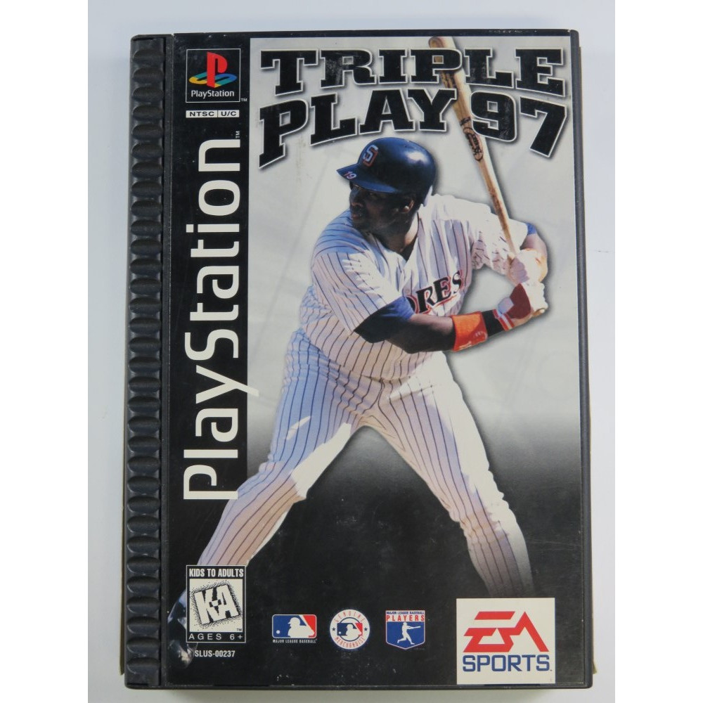 TRIPLE PLAY 97 (LONG BOX) PLAYSTATION 1 (PS1) NTSC-USA (COMPLETE - GOOD CONDITION)