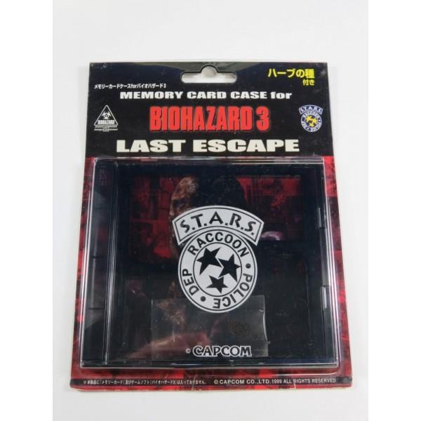 MEMORY CARD CASE FOR BIOZARD 3 LAST ESCAPE CAPCOM JAPAN 1999 (PERFECT CONDITION + HERB BAG)