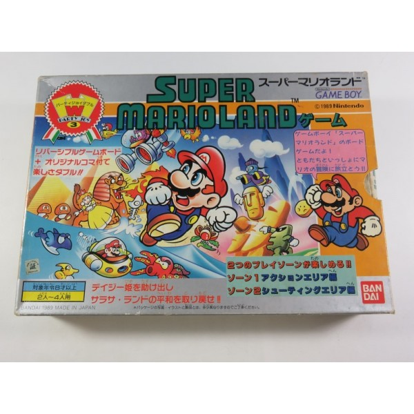 SUPER MARIOLAND BOARD GAME (JEU DE SOCIETE) PARTY JOY 3 BANDAI JAPAN 1989 (COMPLETE - GOOD CONDITION)