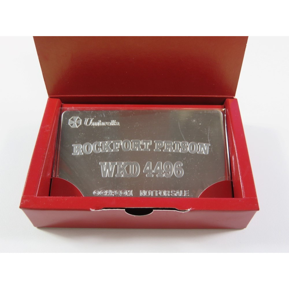 BIOHAZARD CODE: VERONICA ROCKFORT PRISON CARD CAPCOM BONUS ITEM-NOT FOR SALE (BRAND NEW) PROMO METAL PLATE