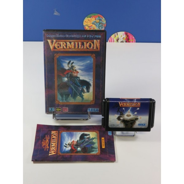 VERMILLION SEGA MEGADRIVE NTSC-JPN (COMPLETE - GOOD CONDITION) RPG 1989