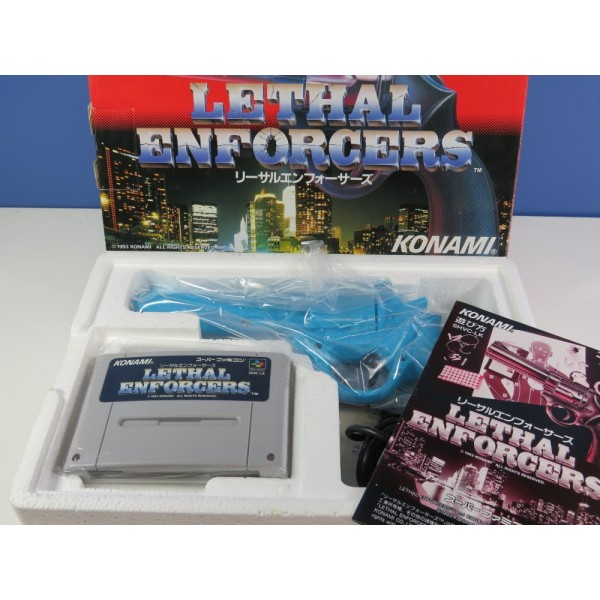 LETHAL ENFORCERS GUN SET SUPER FAMICOM (COMPLET-GREAT CONDITION-NEW?) NINTENDO SFC
