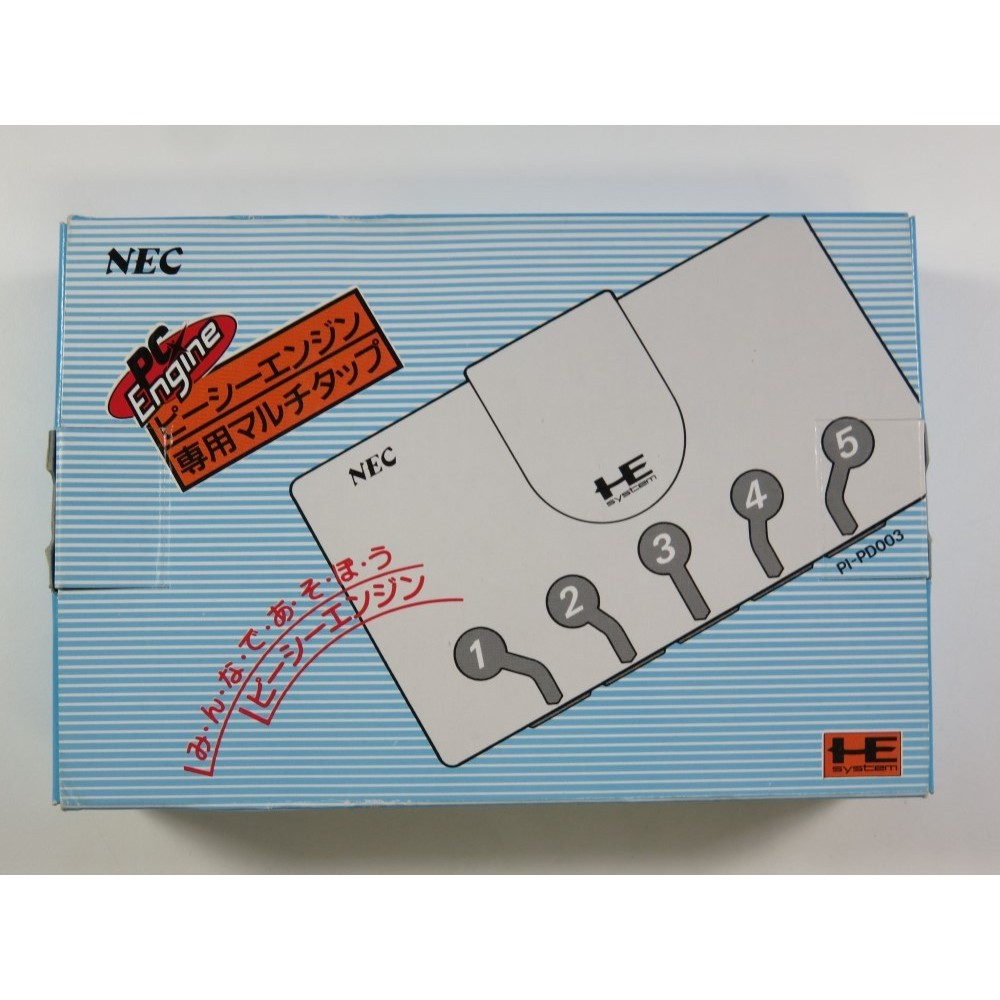 MULTITAP NEC PC ENGINE (PI-PD003) 5 CONTROLLERS JAPAN (COMPLETE IN BOX AND INSTRUCTION) - (VERY GOOD CONDITION)