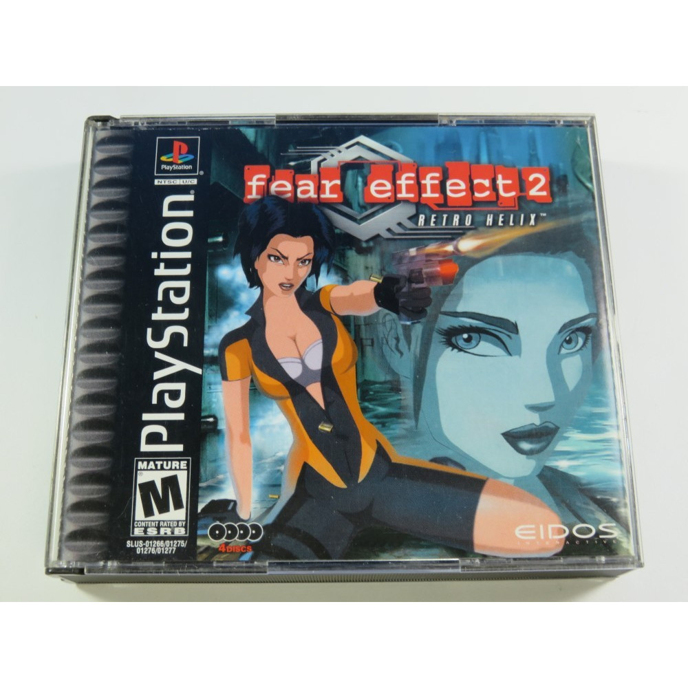 FEAR EFFECT 2 RETRO HELIX PLAYSTATION 1 (PS1) NTSC-USA (COMPLETE - VERY GODO CONDITION OVERALL)