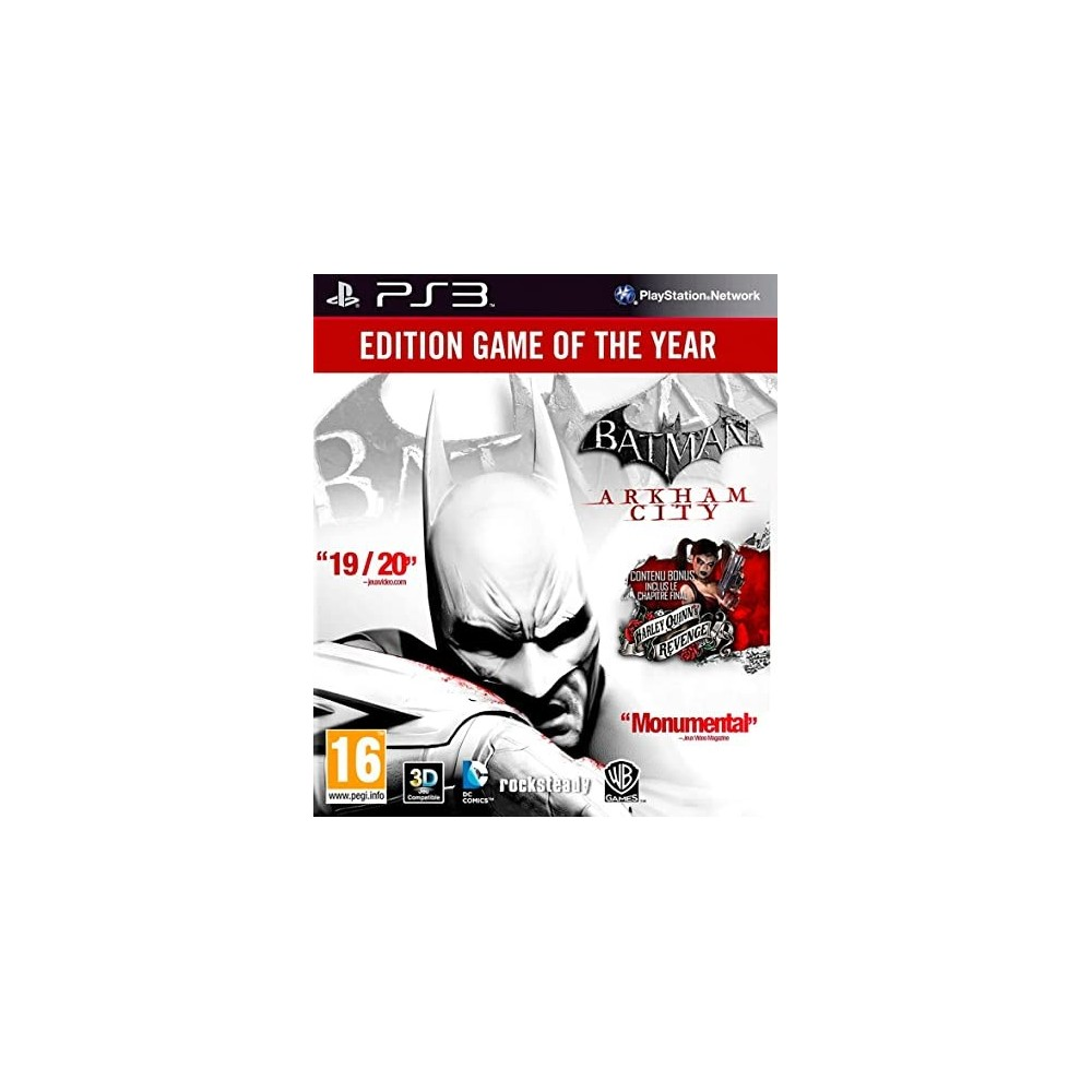 BATMAN ARKHAM CITY (GAME OF THE YEAR EDITION) PS3 FR OCCASION