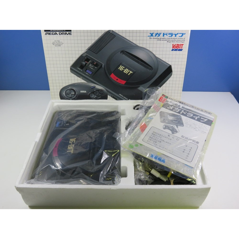 CONSOLE MEGADRIVE I NTSC-JPN (GOOD CONDITION WITH BOX AND MANUAL) SEGA MD SYSTEM