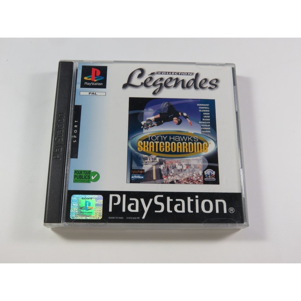 TONY HAWK S SKATEBOARDING COLLECTION LEGENDES PLAYSTATION 1 (PS1) PAL-FR (WITHOUT MANUAL - GOOD CONDITION)