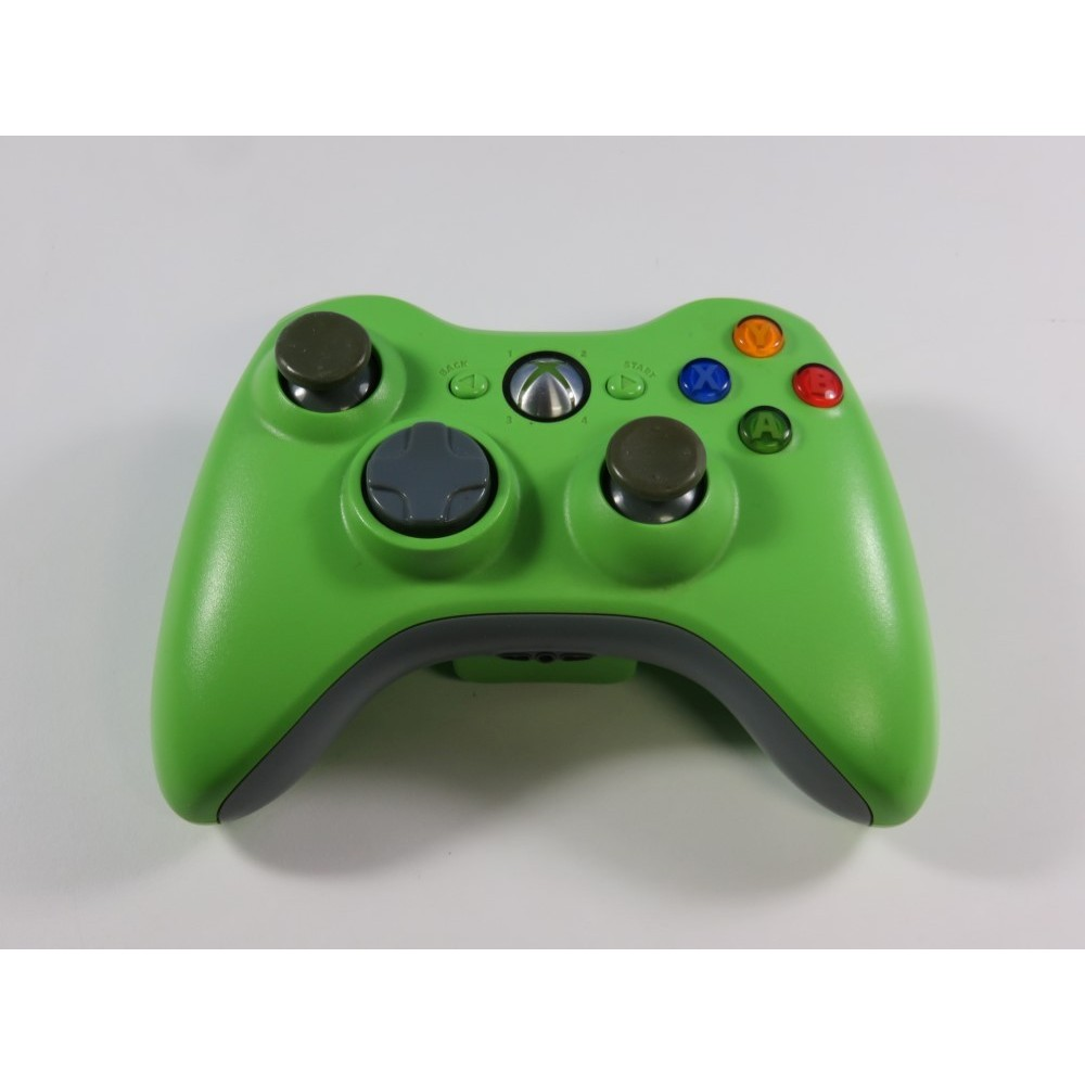 CONTROLLER - MANETTE XBOX 360 (X360) WIRELESS (GREEN) EURO (CONTROLLER ONLY - GOOD CONDITION)