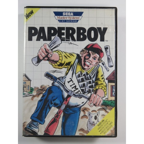 PAPERBOY SEGA MASTER SYSTEM (SMS) USA (SANS NOTICE - WITHOUT MANUAL)