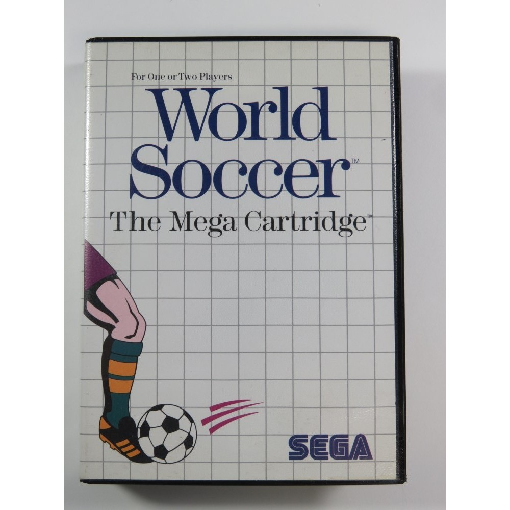 WORLD SOCCER SEGA MASTER SYSTEM PAL-EURO (COMPLETE-GOOD CONDITION OVERALL) 1987
