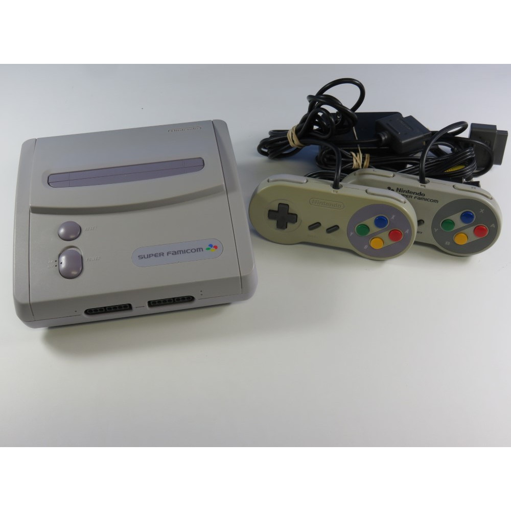 CONSOLE SUPER FAMICOM JR NTSC-JPN (SANS BOITE NI NOTICE - WITHOUT BOX AND MANUAL) - (2 PADS AND CABLES INCLUDED)
