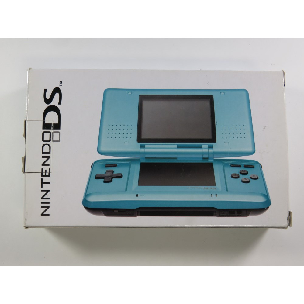CONSOLE NINTENDO DS (NDS) TURQUOISE BLUE JAPAN (COMPLETE WITH MANUAL - GOOD CONDITION)