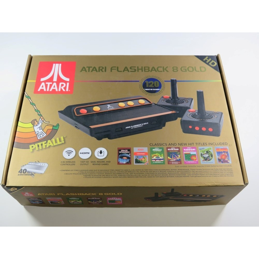 CONSOLE RETRO ATARI FLASHBACK 8 + 120 JEUX - EDITION GOLD (COMPLETE WITH BOX - VERY GOOD CONDITION)