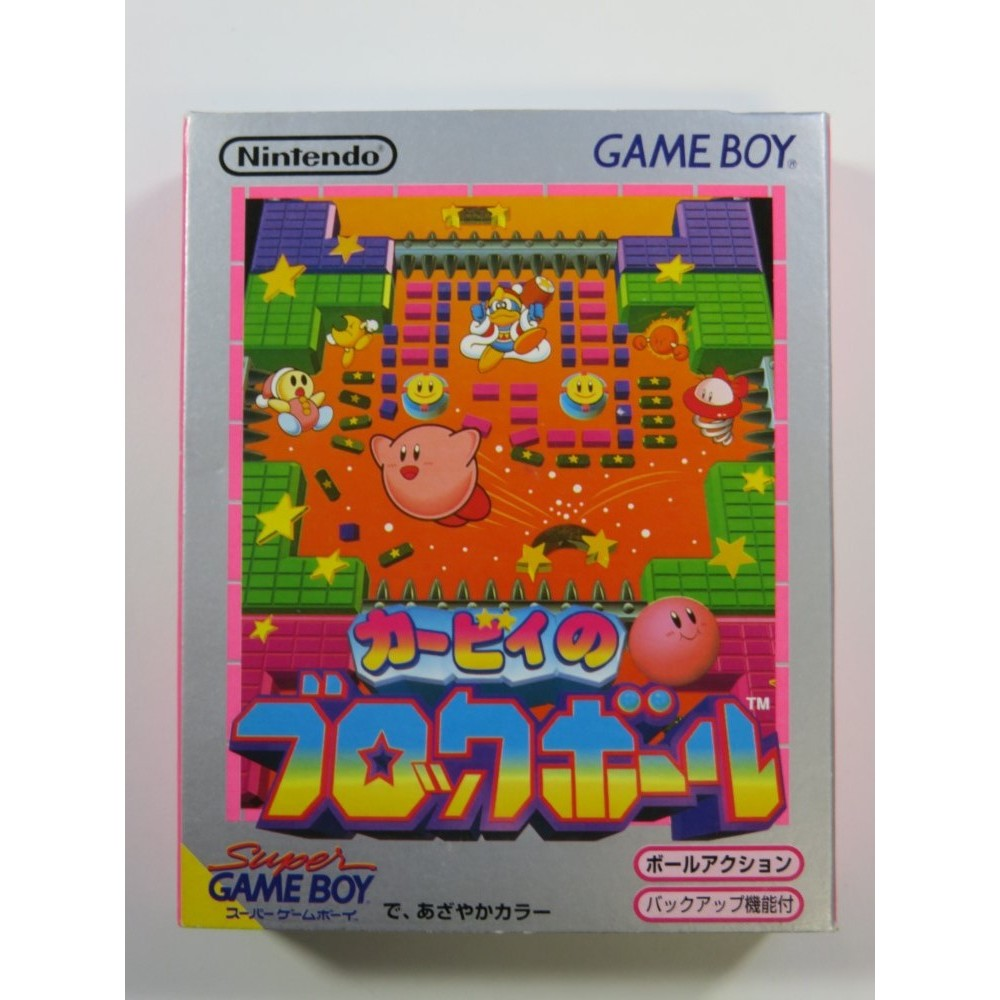 KIRBY BLOCK BALL GAMEBOY JPN (COMPLETE - VERY GOOD CONDITION)