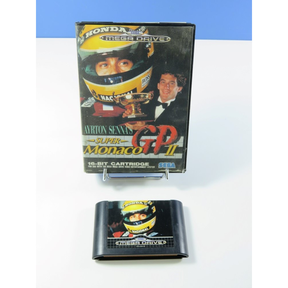 AYRTON SENNA S SUPER MONACO GP II MEGADRIVE PAL-EURO (WITHOUT MANUAL - GOOD CONDITION OVERALL)