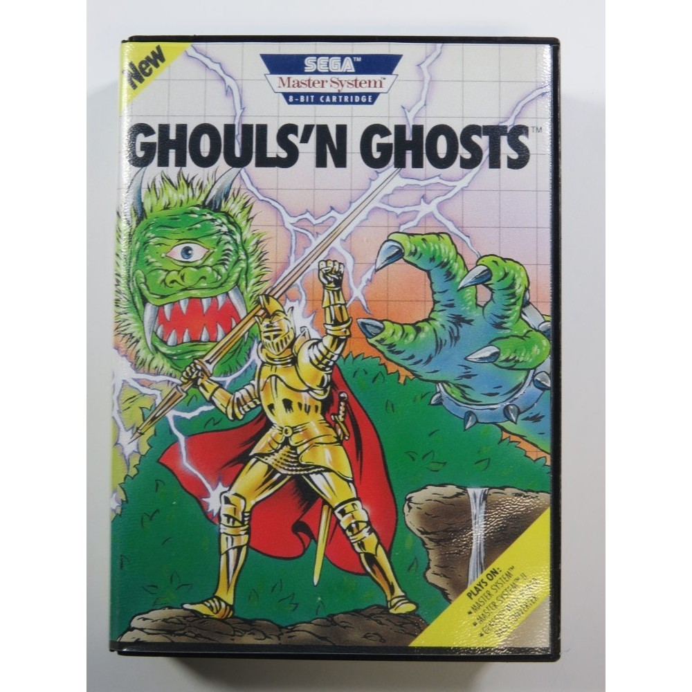 GHOULS N GHOSTS SEGA MASTER SYSTEM (SMS) USA (COMPLETE - GOOD CONDITION)