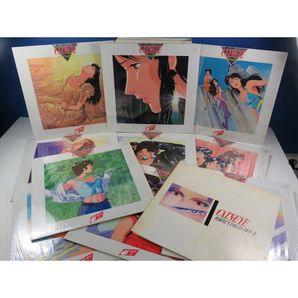 LD CATS EYE PERFECT COLLECTION II SET (10 LASER DISCS+BOOKLET) NTSC-JAPAN