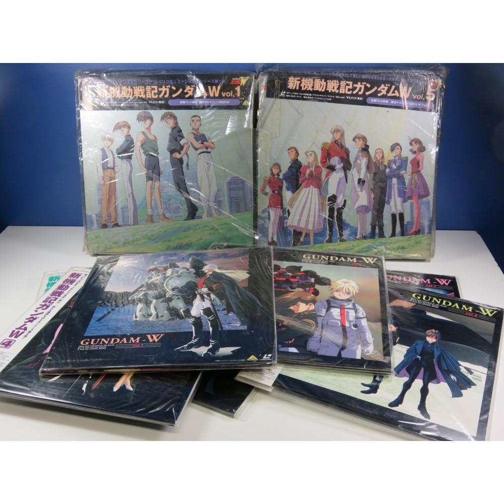 LD GUNDAM W (WING) FULL SET (VOL.1,2,3,4,5,6,7) MULTIFACE BOXES (13 LASER DISCS) NTSC-JPN